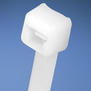 """Panduit PLT5S-C Cable Tie, Standard, Nylon, Natural, 17-1/2"""" Long, 100/PK"""