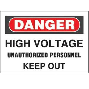 Panduit PPS0710D75 Adhesive Sign, Polyester,'Danger High Vo