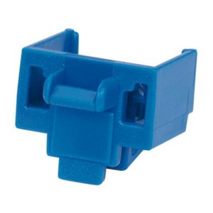 Panduit PSL-DCJB-BU Snap In, Connector, RJ 45 Jack Block-Out Device, Blue, Bag of 10