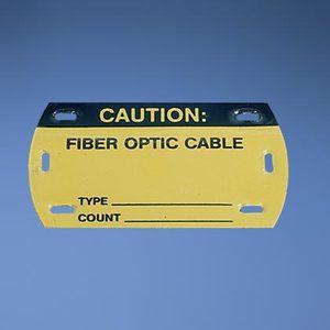 "Panduit PST-FO Self-Laminating Fiber Optic Marker Tags, Black/Yellow, 3-1/2"""