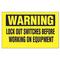 Panduit PVS0204W172Y Vinyl Adhesive Sign