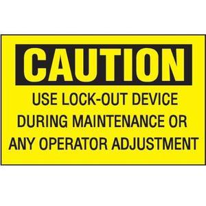 Panduit PVS0710C173Y Vinyl Adhesive Sign