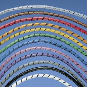 """Panduit T50F-C3Y Spiral Wrap, .50"""" (12.7mm) x 100', Poly,"""