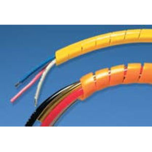 "Panduit T50FR-CY Spiral Wrap, Flame Retardant Polyethylene, Natural Color, 1/2"", 100'"
