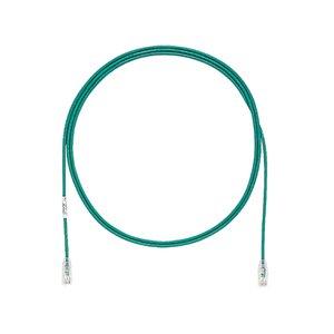 Panduit UTP28SP5GR Patch Cord, Category 6, UTP, RJ45, 28 AWG, Copper, Green, 5'