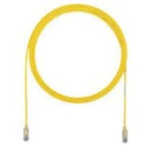 Panduit UTP28SP8YL Patch Cord, Category 6, UTP, RJ45, 28 AWG, Copper, Yellow, 8'