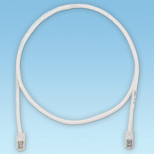Panduit UTPCH5Y Copper Patch Cord, Cat 5e, Off White UTP