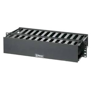 "Panduit WMP1E Cable Manager, Horizontal, PatchLink, 3.5"" H x 19"" W x 8.9"" D, 2RMU"