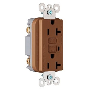 Pass & Seymour 2095 GFCI Receptacle, 20A, 125V, Brown