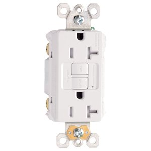 Pass & Seymour 2097-TRW Tamper Resistant GFCI Receptacle, Self-Test, 20A, White