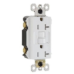 Pass & Seymour 2097-TRWRI Tamper/Weather Resistant GFCI Receptacle, 20A, Ivory