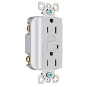 Pass & Seymour 2097-W Spec-Grade GFCI Receptacle, Self-Test, 20A, White