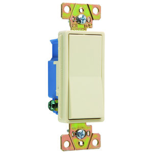 Pass & Seymour 2601-I Specification Grade Decorator Switch, 20A, Ivory
