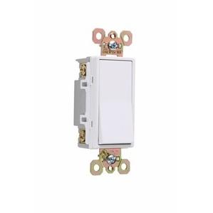 Pass & Seymour 2628-W Illuminated 4-Way Decora Switch, 20A, White, Lighted when OFF