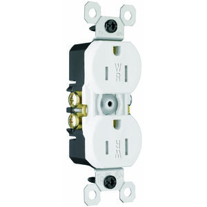 Pass & Seymour 3232-TRWRW Weather/Tamper Resistant Duplex Receptacle, 15A, 125V, White
