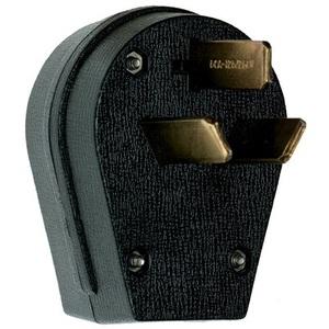 Pass & Seymour 3861 Angled Plug, 30/50A, 125/250V, 10-30P/10-50P, Black