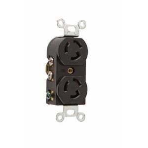 Pass & Seymour 4700 Twistlock Duplex Receptacle, 15A, 125V
