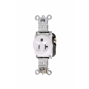Pass & Seymour 5361-W P&S 5361-W RECP SGL 20A 125V S+B WI
