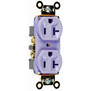 Pass & Seymour 5362-GRY Duplex Receptacle, 20A, 125V, Gray, 5-20R