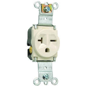 Pass & Seymour 5871-LA Single Receptacle 20a/250v