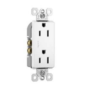 Pass & Seymour 885-TRW Tamper Resistant Decora Receptacle, 15A, 125V, White