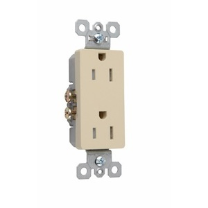 Pass & Seymour 885-TRWR Weather/Tamper Resistant Decora Duplex Receptacle, 15A, 125V, Brown