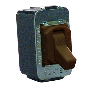 Pass & Seymour ACD201 Toggle Switch, 20A, 120/277V, 1P, Brown