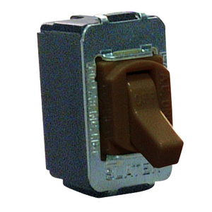 Pass & Seymour ACD203 Toggle Switch, 20A, 120/277V, 3P, Brown