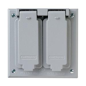 Pass & Seymour CA262-G P&S CA262-G WP 2G TWO DECORATOR COV