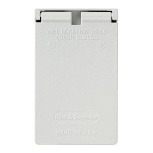 Pass & Seymour CA8-WV P&S CA8-WV WP 1G VERT DUPLEX COVER