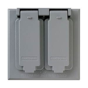 Pass & Seymour CA82-G P&S CA82-G WP 2G TWO DUPLEX COVER