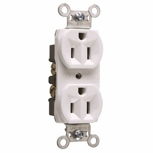Pass & Seymour CRB5262-W Construction Spec Grade Receptacle, 15A, White