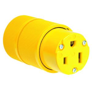 Pass & Seymour D0553 Gator Grip Connector, 50A, 125V, Yellow