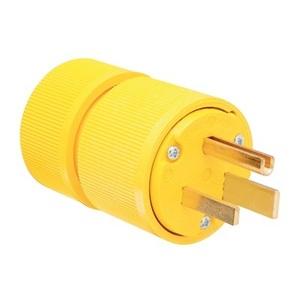 Pass & Seymour D0651 Plug, 50A, 250V, 6-50P, 2P3W, Yellow