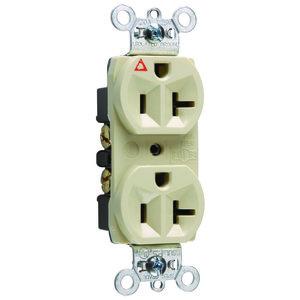 Pass & Seymour IG5362-I Single IG Receptacle, 20A, 125V, Ivory, 5-20R
