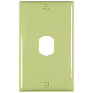 Pass & Seymour K4-I Plate Plst Des Vert 1dev 1g W/line