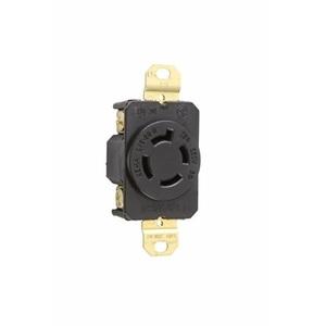 Pass & Seymour L1520-R Locking Receptacle, 20A, 250V, Black