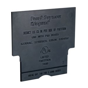 Pass & Seymour LVDIV1 Partition, Low Voltage, Gray, Non-Metallic