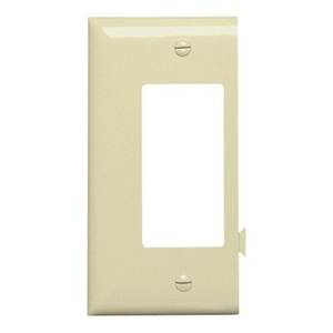 Pass & Seymour PJSE26-I Sectional Wallplate, Decora, End Section, Nylon, Ivory
