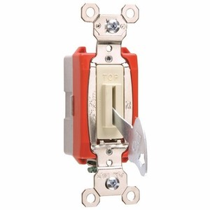 Pass & Seymour PS20AC1-IL Lock Switch, 1-Pole, 20A, 120/277V, Ivory