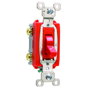 Pass & Seymour PS20AC2-RPL Double Pole Pilot Switch, 20A, 120V, Red,  Lighted when ON