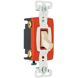 Pass & Seymour PS20AC4-BK 4-Way Toggle Switch, 20A, 120/277VAC, Black