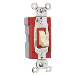 Pass & Seymour PT20AC1-I PlugTail 20a 120/277v Single Pole Switch Ivory