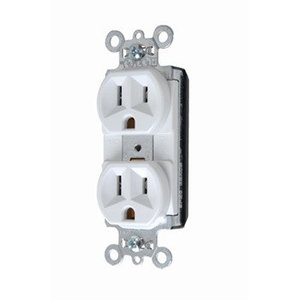 Pass & Seymour PT5362-W PlugTail Receptacle, 20A, 125V, White, 5-20R