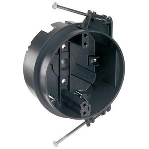 """Pass & Seymour S1-20-RAC 4"""" Round Ceiling Box, Depth: 2-3/16"""", Nail-On, Non-Metallic"""