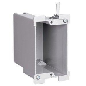 """Pass & Seymour S122-W Switch/Outlet Box, 1-Gang, Depth: 3-1/2"""", Non-Metallic"""