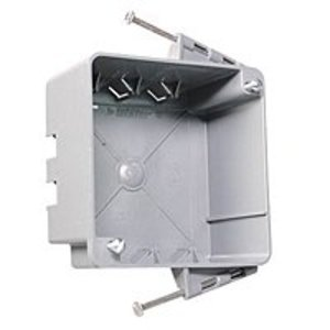 "Pass & Seymour S44-21-RAC 4"" Square Box, Nail-On, Depth: 5.75"", Non-Metallic"