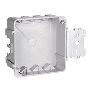 "Pass & Seymour S44-21-SAC 4"" Square Box with Bracket, Depth: 1-1/2"", Non-Metallic"