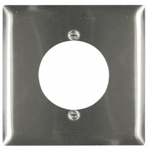 "Pass & Seymour SS702 Range/Dryer Wallplate (2.125""), 2-Gang, Stainless Steel"