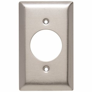 "Pass & Seymour SS720 Power Outlet Wallplate, (1.5938""), 1-Gang, Stainless Steel"